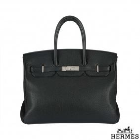 Hermes Birkin 35 cm in black Togo leather PHW